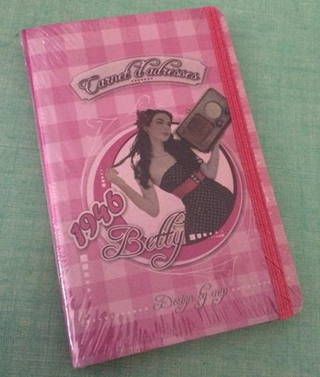 Un petit carnet d'adresse adorable, rose et Betty le tout dans mon style de prédilection