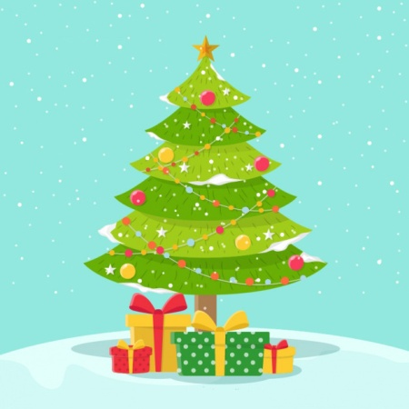 snowy-background-of-pretty-christmas-tree-with-gifts_23-2147583120